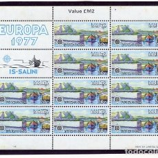 Sellos: 22 SELLOS DE MALTA NUEVOS - MINIPLIEGOS EUROPA 1977 + EUROPA 1983 - FOTOS ADIC.. Lote 206277717