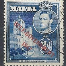 Timbres: MALTA 1948 - JORGE VI, SOBREIMPRESO SELF-GOVERNMENT 1947 - SELLO USADO. Lote 210195298