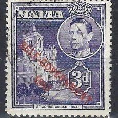Timbres: MALTA 1953 - JORGE VI, SOBREIMPRESO SELF-GOVERNMENT 1947 - SELLO USADO. Lote 210195852