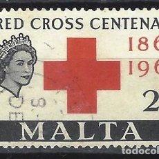 Sellos: MALTA 1963 - CENTENARIO DE LA CRUZ ROJA INTERNACIONAL - SELLO USADO. Lote 210197218