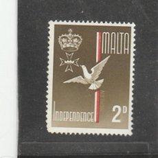 Sellos: MALTA 1964 - YVERT NRO. 294 - CHARNELA. Lote 210703147
