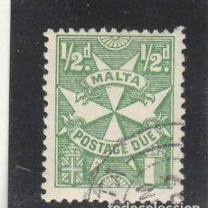 Sellos: MALTA 1967 - YVERT NRO. T27 TAXE - USADO. Lote 210703310