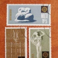 Sellos: MALTA, EUROPA CEPT 1974 USADA (FOTOGRAFÍA REAL). Lote 213331878