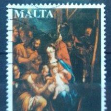 Sellos: MALTA NAVIDAD 2012 SELLO USADO. Lote 213515917