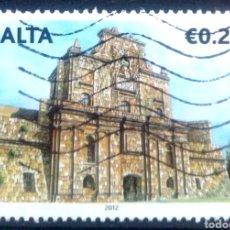 Sellos: MALTA 2012 CATEDRAL DE ZABAR, MALTA SELLO USADO. Lote 213618837