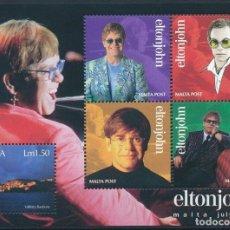 Sellos: MALTA 2003 HB IVERT 25 *** CANTANTE ELTON JOHN EN CONCIERTO EN MALTA - MÚSICA. Lote 214712757