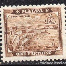 Sellos: MALTA/1901/MH/SC#19/ MUELLE DE VALETTA. Lote 215499946