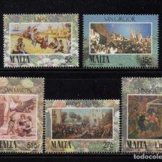 Sellos: MALTA 1323/27** - AÑO 2004 - FOLKLORE - FIESTA DE MALTA - ESCENAS DE ANTAÑO. Lote 216691415