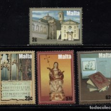 Sellos: MALTA 1328/31** - AÑO 2004 - MONUMENTOS - IGLESIA DE SANTA MARIA. Lote 216691510