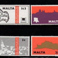 Sellos: MALTA 509/12** - AÑO 1975 - AÑO DEL PATRIMONIO ARQUITECTONICO EUROPEO. Lote 217248855