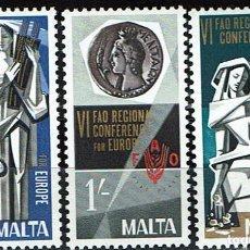 Sellos: MALTA 1968 - 6ª CONF. INTER. PARA EUROPA DE LA ORGANIZACIÓN PARA LA ALIMENTACIÓN Y AGRICULTURA. Lote 217826945