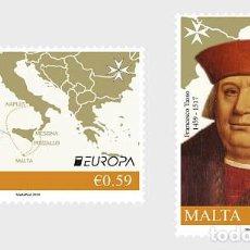 Sellos: MALTA 2020 - EUROPA 2020 - ANCIENT POSTAL ROUTES STAMP SET MNH. Lote 218734411