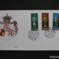Sellos: MALTA 1977 - SOBRE PRIMER DIA SELLOS IVERT 537/9. Lote 222133332