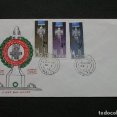 Sellos: MALTA 1967 - SOBRE PRIMER DIA SELLOS IVERT 552/4. Lote 222133667