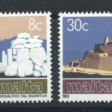 """Sellos: MALTE N°668/69** (MNH) 1983 - EUROPA """"GRAND ŒUVRES DU GÉNIE HUMAIN"""" (BIS). Lote 227655012"""