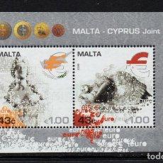Sellos: MALTA HB 43** - AÑO 2008 - ENTRADA DE MALTA Y CHIPRE EN LA ZONA EURO. Lote 234932610