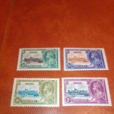 Sellos: MALTA YVERT 171/174 JUBILEO JORGE V 1935 NUEVO. MARCA CHARNELA. Lote 235311380