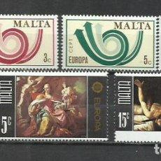 Sellos: Q516A-2 SERIES COMPLETAS MALTA SERIE EUROPA NUEVOS MNH** 507/8+474/6.. Lote 235438590