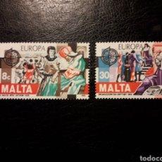 Timbres: MALTA YVERT 649/50 SERIE COMPLETA NUEVA *** 1982. EUROPA CEPT. HISTORIA. PEDIDO MÍNIMO 3 €. Lote 240562680