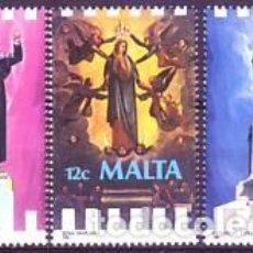 Sellos: MALTA 720/2 ACONTECIMIENTOS RELIGIOSOS. Lote 244397090