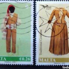 Sellos: MALTA TRAJES TRADICIONALES SERIE DE SELLOS USADOS. Lote 244465935