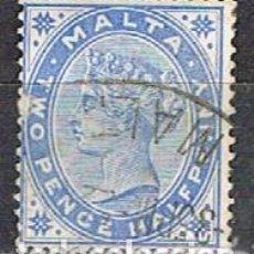 Sellos: MALTA IVERT Nº 7 (AÑO 1885), REINA VICTORIA, USADO. Lote 254561545