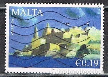 MALTA IVERT Nº 1603, BASTIONES DEL CASTILLO DE LA VALLETTA, USADO (Sellos - Extranjero - Europa - Malta)