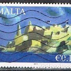 Sellos: MALTA IVERT Nº 1603, BASTIONES DEL CASTILLO DE LA VALLETTA, USADO. Lote 254594455