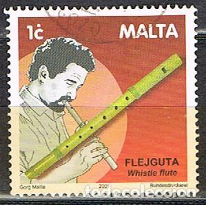 MALTA Nº 1158, INSTRUMENTOS DE MÚSICA TRADICIONALES: FLAUTA SILBADORA, USADO (Sellos - Extranjero - Europa - Malta)