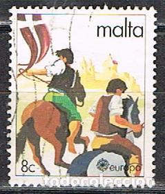 MALTA Nº 616, EUROPA 1981, TIGRIJA. CARRERA DE CABALLOS, USADO (Sellos - Extranjero - Europa - Malta)