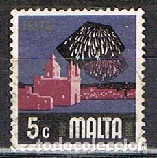 MALTA Nº 468, ASOECTIS DE LA VIDA CONTEMPORANEA: FIESTAS (FUEGOS ARTIFICIALES), USADO (Sellos - Extranjero - Europa - Malta)