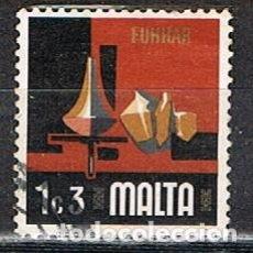 Sellos: MALTA Nº 464, ASPECTOS DE LA VIDA CONTEMPORANEA: ARTESANIA: ALFARERIA, USADO. Lote 254600170