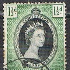 Francobolli: MALTA IVERT Nº 234 (AÑO 1953), CONMEMORACIÓN DE LA CORONACIÓN DE ISABEL II. USADO. Lote 254604850