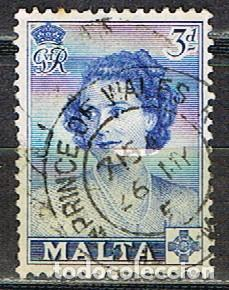 MALTA IVERT Nº 223 (AÑO 1950), VISITA DE LA REINA ISABEL II. USADO (Sellos - Extranjero - Europa - Malta)
