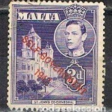Francobolli: MALTA IVERT Nº 207 (AÑO 1948), SOBRECARGADO: AUTOGOBIERNO 1947. USADO. Lote 254606485