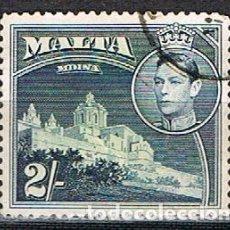 Sellos: MALTA IVERT Nº 189 (AÑO 1938), REY JORGE VI Y PAISAJES Y MONUMENTOS, CATEDRAL DE MDINA. USADO. Lote 254607445