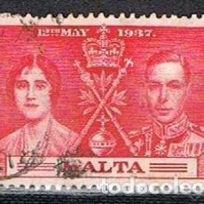 Sellos: MALTA IVERT Nº 175 (AÑO 1937), CORONACIÓN DE JORGE VI. USADO. Lote 254608365