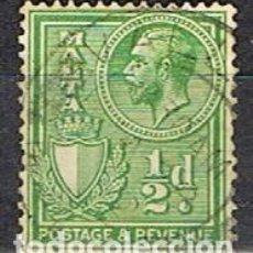 Sellos: MALTA IVERT Nº 118 (AÑO 1926), EDUARDO VII. USADO. Lote 254608755