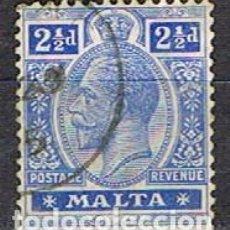 Sellos: MALTA IVERT Nº 46 (AÑO 1913), JORGE V. USADO. Lote 254609685