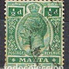 Sellos: MALTA IVERT Nº 43 (AÑO 1913), JORGE V. USADO. Lote 254609915