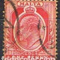 Sellos: MALTA IVERT Nº 19 (AÑO 1903), JORGE V. USADO. Lote 254610180