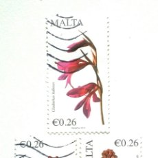 Sellos: MALTA FLORES SERIE DE SELLOS EUROS. Lote 254667675