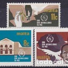 Sellos: MALTA 724/6 AÑO INTERNACIONAL DE LA PAZ. Lote 260868440