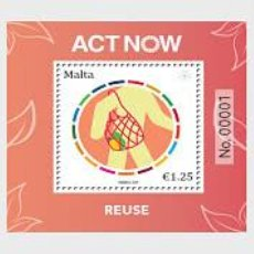 Sellos: MALTA 2021 - ACT NOW - THE UNITED NATIONS CAMPAIGN FOR INDIVIDUAL ACTION. Lote 261648240