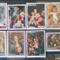 Sellos: MALTA NAVIDAD CONJUNTO DE SELLOS USADOS SOLO EURO. Lote 262672575
