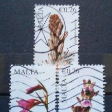 Sellos: MALTA FLORES SERIE DE SELLOS USADOS. Lote 268269964
