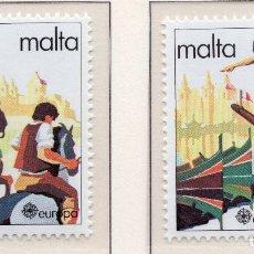 Sellos: MALTA, 1981, STAMP , MICHEL 628-629. Lote 274662358
