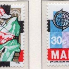 Sellos: MALTA, 1982, STAMP , MICHEL 661-662. Lote 274662378