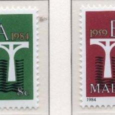 Sellos: MALTA, 1984, STAMP , MICHEL 704-705. Lote 274662468