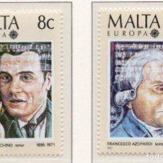 Sellos: MALTA, 1985, STAMP , MICHEL 726-727. Lote 274662513